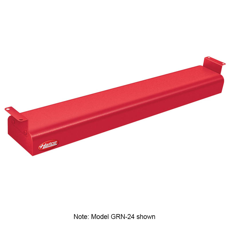 "Hatco GRN-48 120 RED 48"" Narrow Infrared Foodwarmer, Warm Red, 120 V"