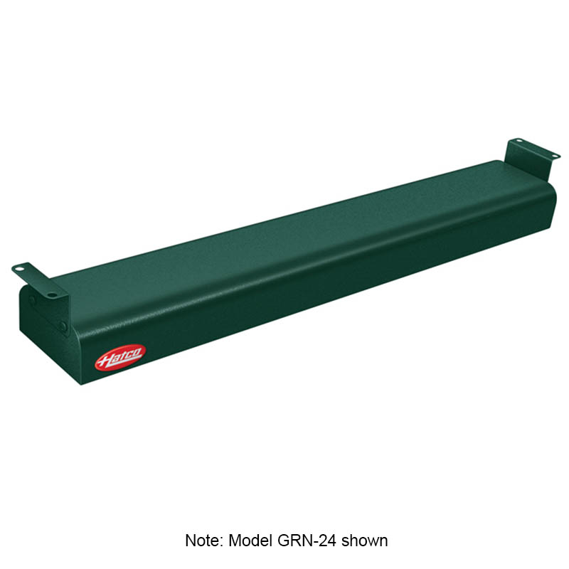 "Hatco GRN-48 240 GREEN 48"" Narrow Infrared Foodwarmer, Hunter Green, 240 V"