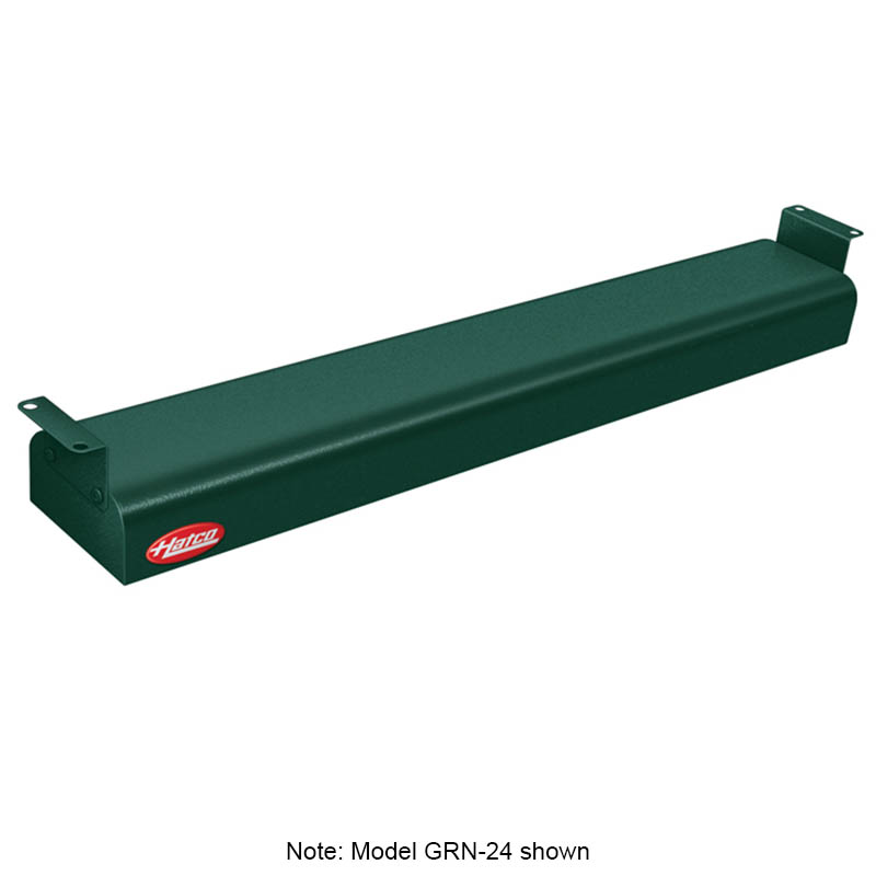 "Hatco GRN-54 120 GREEN 54"" Narrow Infrared Foodwarmer, Hunter Green, 120 V"
