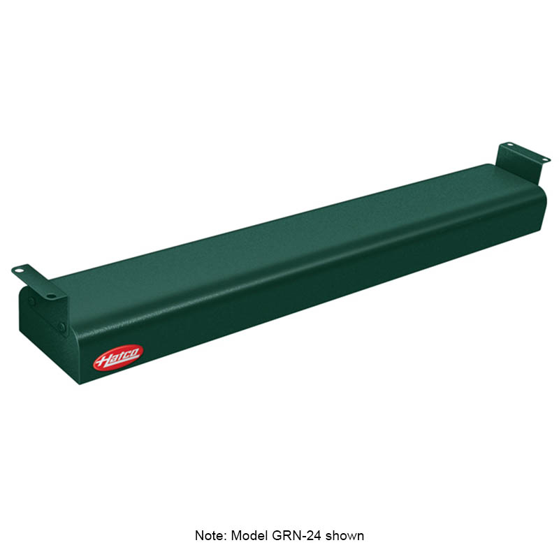 "Hatco GRN-66 240 GREEN 66"" Narrow Infrared Foodwarmer, Hunter Green, 240 V"