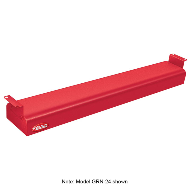 "Hatco GRN-66 240 RED 66"" Narrow Infrared Foodwarmer, Warm Red, 240 V"