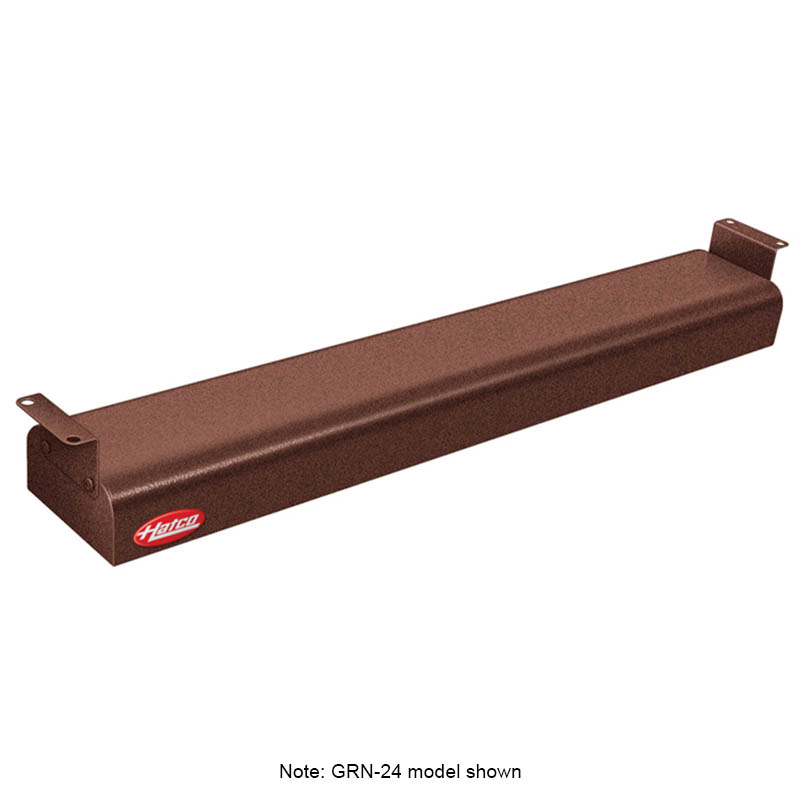 "Hatco GRNH-24 24"" Narrow Infrared Foodwarmer, High Watt, Copper, 208 V"
