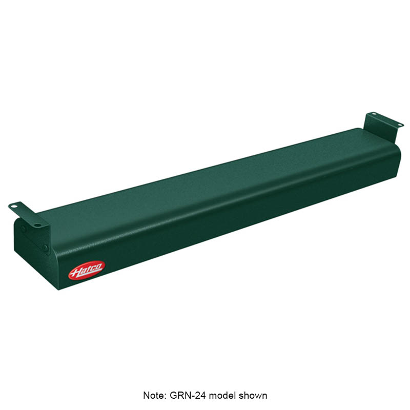 "Hatco GRNH-42 240 GREEN 42"" Narrow Infrared Foodwarmer, High Watt, Green, 240 V"