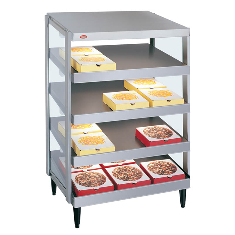 Hatco GRPWS-2418Q Glo-Ray Pizza Warmer, Pass Thru, 4 Slant Shelf, 24 in x1 8 in