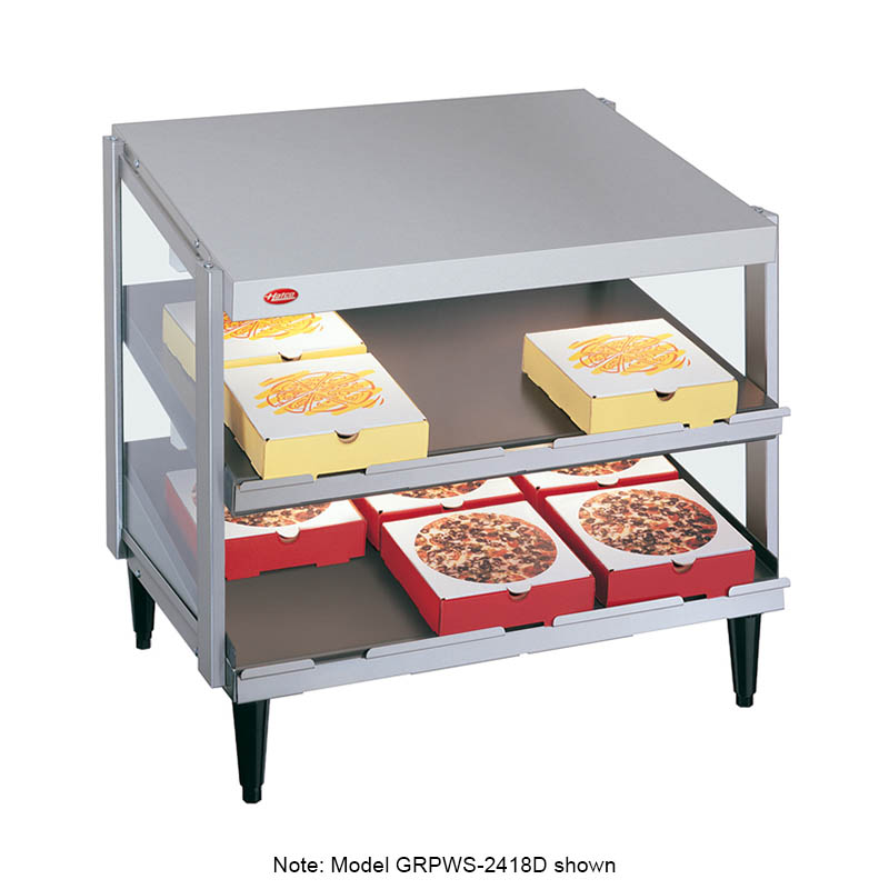 "Hatco GRPWS-2418T Glo-Ray Pizza Warmer, Pass Thru, 3 Slant Shelf, 24"" X 18"""