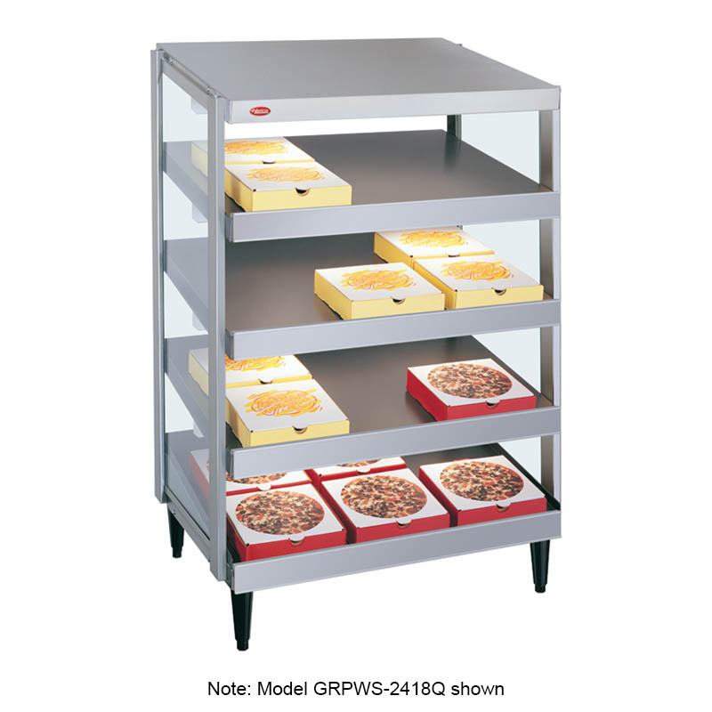 Hatco GRPWS-2424Q Glo-Ray Pizza Warmer, Pass Thru, 4 Slant Shelf, 24 in x 24 in