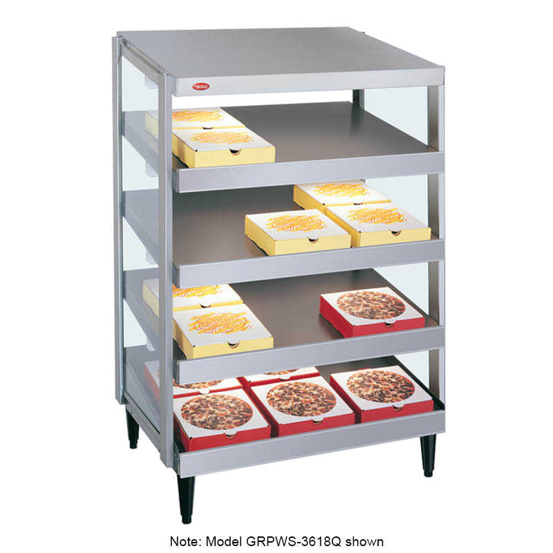 "Hatco GRPWS-3624Q Glo-Ray Pizza Warmer, Pass Thru, 4 Slant Shelf, 36"" X 24"""