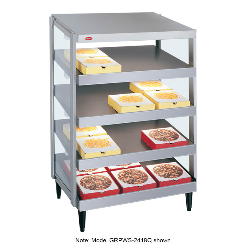 Hatco GRPWS-4824Q Glo-Ray Pizza Warmer, Pass Thru, 4 Slant Shelf, 48 in x 24 in