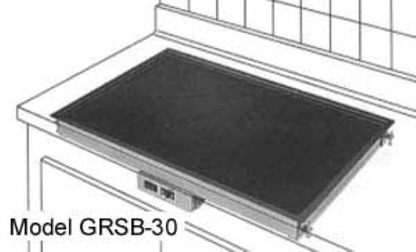 Hatco GRSB-54-I Glo-Ray Drop In Heated Shelf w/Recessed Top 55-1/2 L x 21 in W 1100 Watts Restaurant Supply