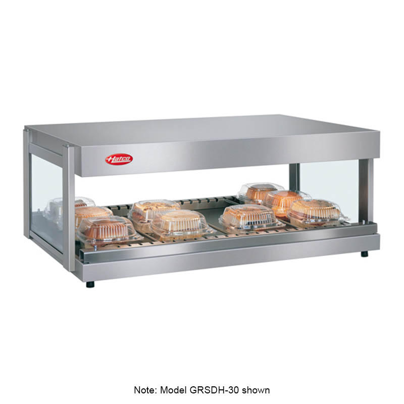"Hatco GRSDH-24 24"" Self-Service Countertop Heated Display Shelf - (1) Shelf, 120v"