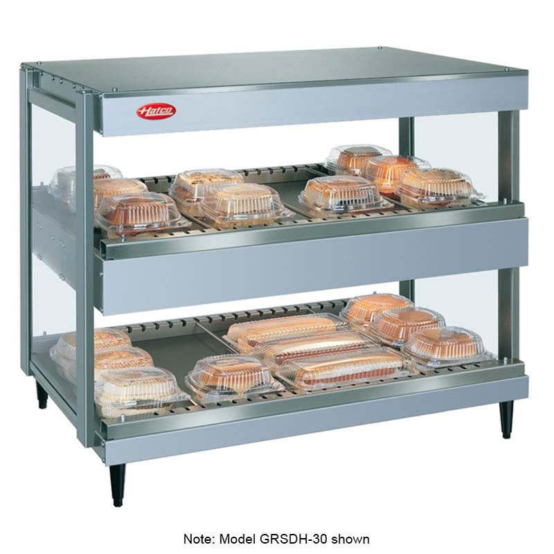 Hatco GRSDH-60D 240 60-in Merchandising Warmer, 2-Tier w/ Horizontal Shelves, 240 V