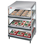 Hatco GRSDS-24T 24-in Merchandising Warmer, 3-Tier w/ Forward Slant Shelves, 120 V