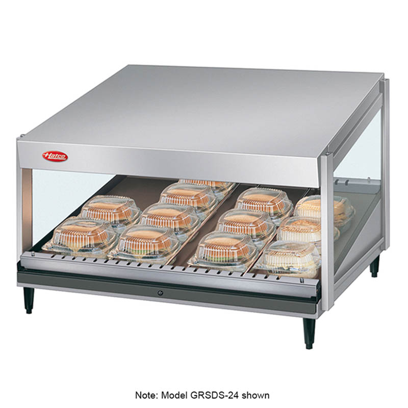 """Hatco GRSDS-52 52"""" Merchandising Warmer w/ Forward Slanted Shelf, 120 V"""