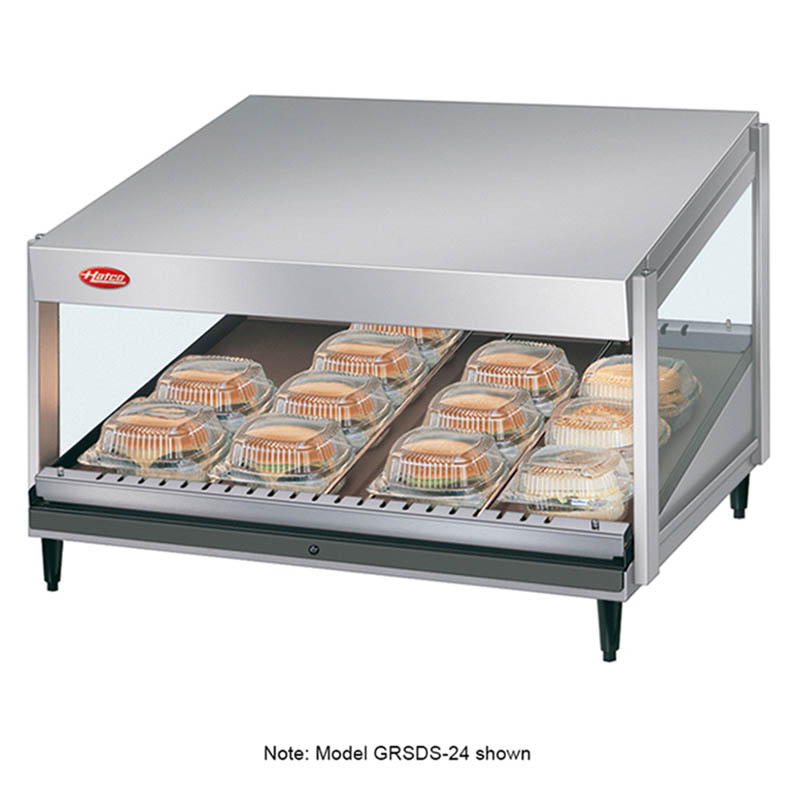 "Hatco GRSDS-60 60"" Merchandising Warmer w/ Forward Slanted Shelf, 120 V"