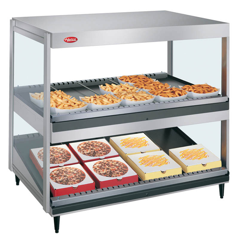 "Hatco GRSDS/H-36DHW 36"" Self-Service Countertop Heated Display Shelf - (2) Shelves, 208v/1ph"
