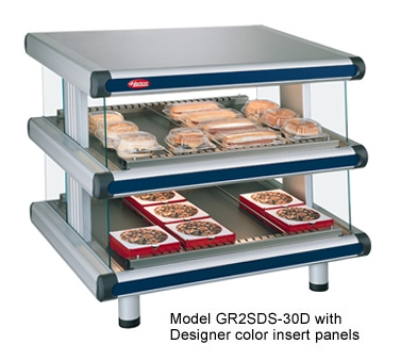 Hatco GR2SDS-42D 240 Slant Display Warmer, 2-Shelves w/ 16-Rods, 120/240 V