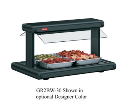 "Hatco GR2BW-48 208 54-1/8"" Buffet Warmer w/ 2-Sneeze Guards & Lights, 120/208 V"