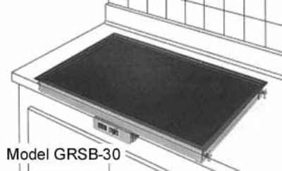 Hatco GRSB-24-I 25.5-in Drop In Heated Shelf w/ Recessed Top, 21-in W, 120 V