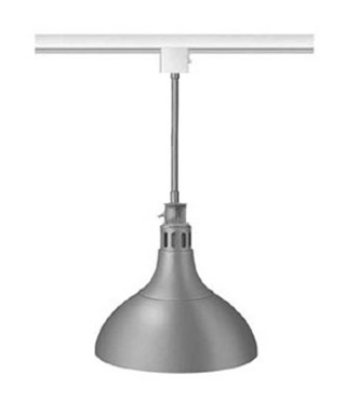 "Hatco DL-800-STL Heat Lamp, 1-Bulb, 8.5 x 11"", Rigid Stem Mount to Track, Lower Switch"