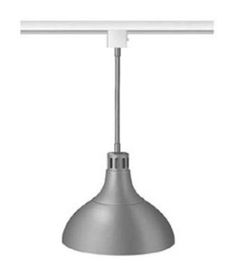 "Hatco DL-800-STR Heat Lamp, 1-Bulb, 8.5 x 11"", Rigid Stem Mount to Track, Remote Switch"