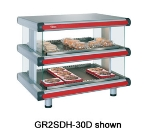 Hatco GR2SDH-54D 208 Horizontal Display Warmer, 2-Shelves w/ 20-Rods, 120/208 V