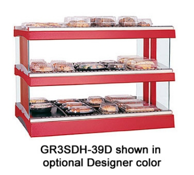 Hatco GR3SDH-33D 208 Glo-Ray Horizontal Display Warmer 2-Shelves w/ 18-Rods 120/208 V Restaurant Supply