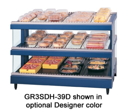 Hatco GR3SDS-39D 208 Glo-Ray Slant Display Warmer, 2-Shelves w/ 21-Rods, 120/208 V