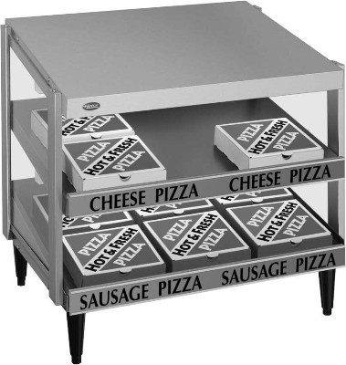 Hatco GRPWS-4824D Pass-Thru Pizza Warmer w/ Double Slant Shelf, 48 x 24-in, 120 V