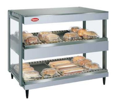 Hatco GRSDH-60D 208 60-in Merchandising Warmer, 2-Tier & Horizontal Shelves, 208 V