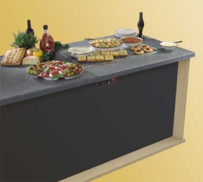 "Hatco GRSSB-6018 SS-GGRAN 61-5/8"" Built-In Heated Stone Shelf, Gray Granite Stone, 120 V"