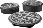 "Hatco GRSSR-20 SS-GGRAN 20"" Round Portable Heated Stone Shelf, Gray Granite Stone, 120 V"