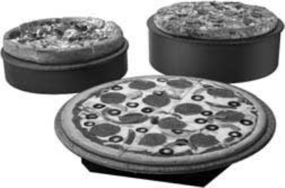 Hatco GRSSR-16 SS-GGRAN 16-in Round Portable Heated Stone Shelf, Gray Granite Stone, 120 V