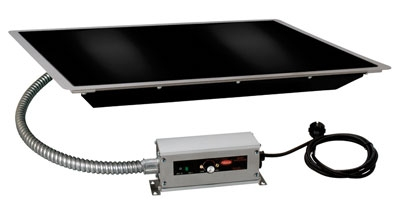 Hatco HBGB-4818 48-in Built-In Heated Glass Shelf w/ Thermo Control, Black, 120 V
