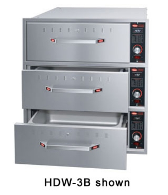 Hatco HDW-3B 120 Built-in Warming 3-Drawer Unit For Standard Pans, 120 V