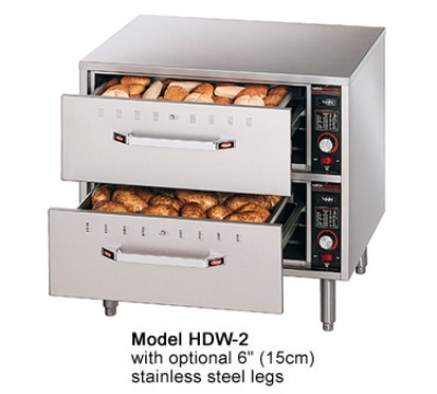 Hatco HDW-2-120-QS Freestanding Warming 2-Drawer Unit For Standard Size Pans, 120 V