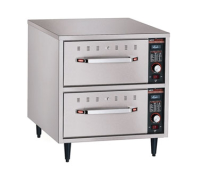 Hatco HDW-2N 240 Freestanding Narrow Warming 2-Drawer Unit For Standard Pans, 240 V
