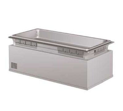 Hatco HWBLI-FULDA Built-In Heated Well w/ Drain & Auto Fill, 4-Pan Capacity, Insulated, Stainless