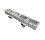 Hatco HWBI-S2M 2401 Built-In Slim Heated Well w/ Manifold Drain & 2-Pan Capacity, 240/1 V