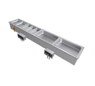 Hatco HWBI-S4D 2081 Remote Slim Heated Well, Top-Mount w/ Drains & 4-Full Size Pans, 208/1 V