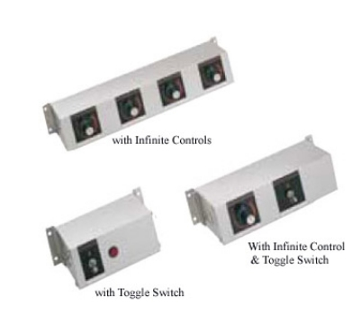 Hatco RMB-16E 16-in Remote Control Box, 3-Toggle & 2-Infinite Switches For 120 V