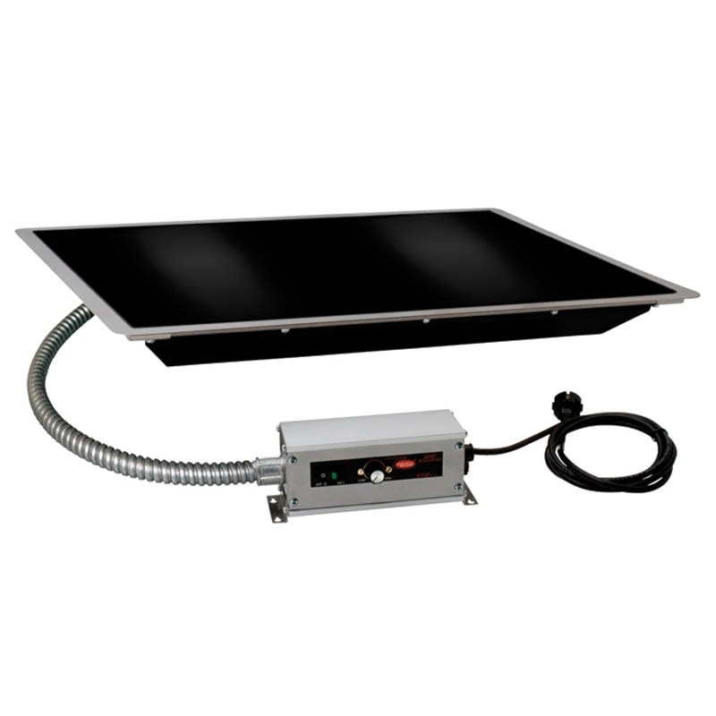 "Hatco HBG-2418 24"" Portable Heated Glass Shelf w/ Thermo Control, Black, 120 V"