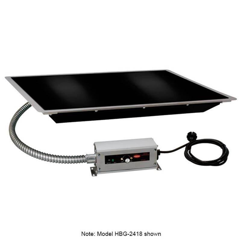 "Hatco HBG-7218 72"" Portable Heated Glass Shelf w/ Thermo Control, Black, 120 V"