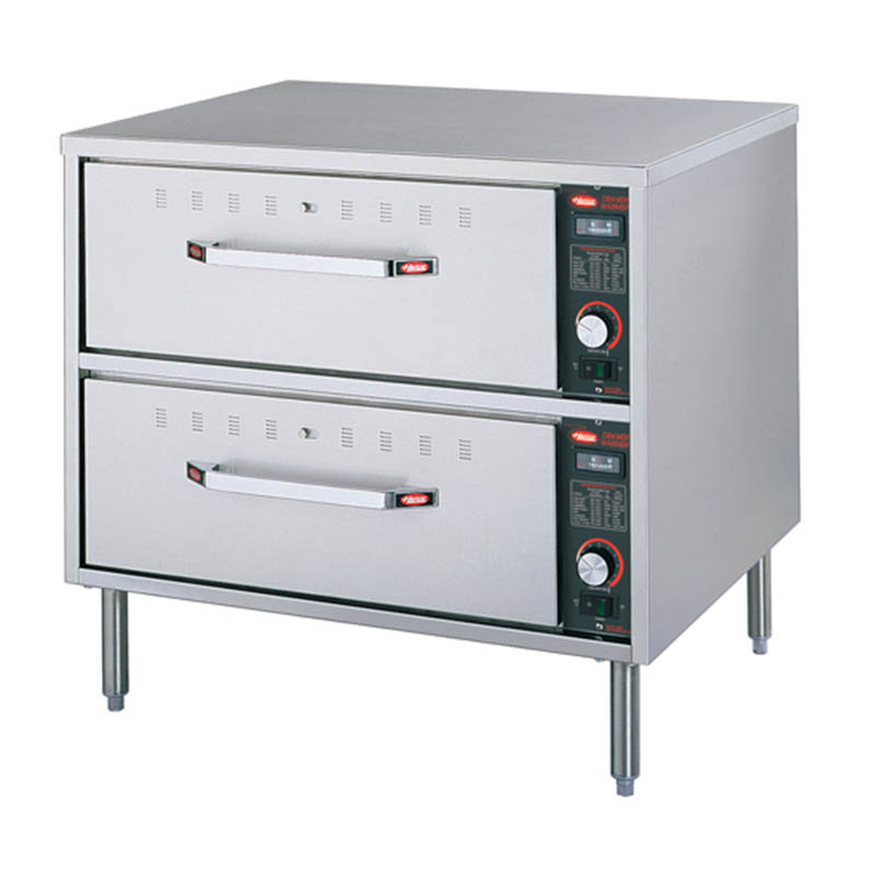 Hatco HDW-2 208 Freestanding Warming 2-Drawer Unit For Standard Size Pans, 208 V