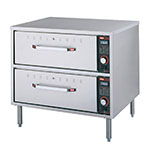 Hatco HDW-2 240 Freestanding Warming 2-Drawer Unit For Standard Size Pans, 240 V