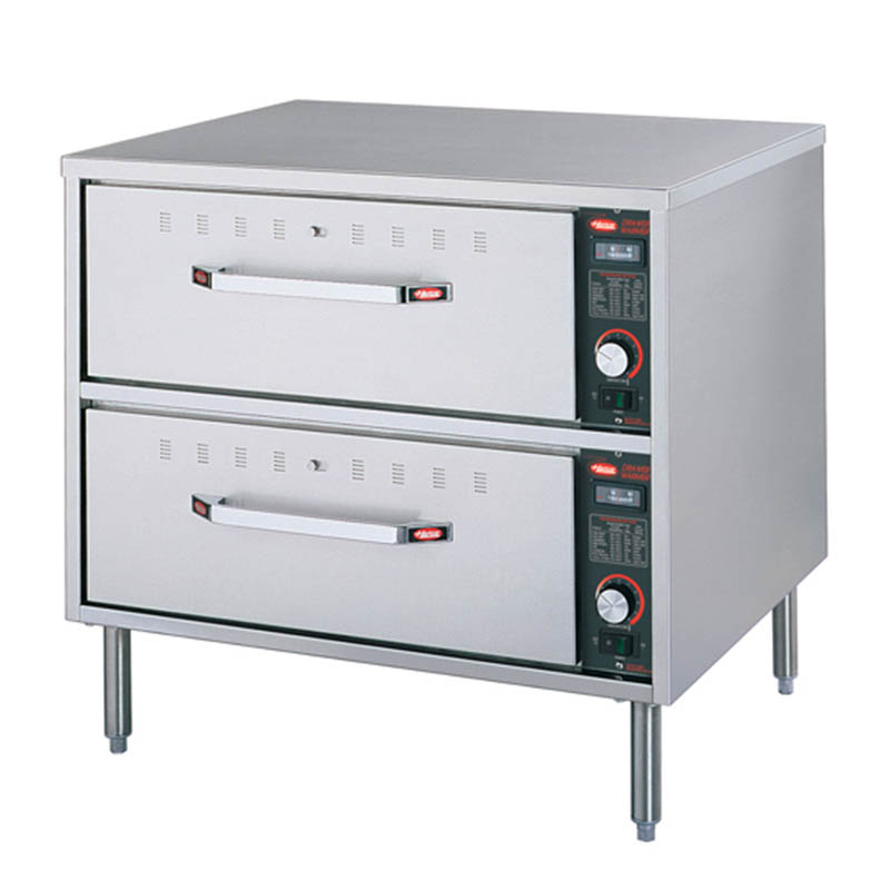 Hatco HDW-2 Freestanding Warming 2-Drawer Unit For Standard Size Pans, 240 V