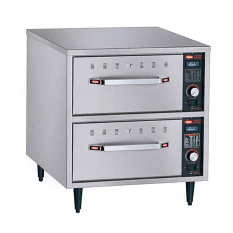 Hatco HDW-2N Freestanding Narrow Warming 2-Drawer Unit For Standard Pans, 240 V