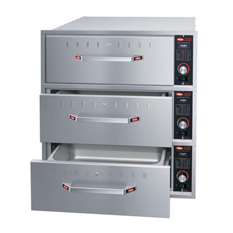 Hatco HDW-3B 120 Built-in Warming 3-Drawer Unit For Standard Pans, 120 V