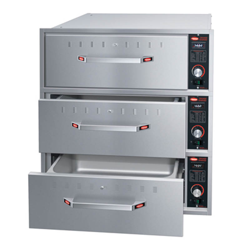 Hatco HDW-3BN 120 Built-in Narrow Warming 3-Drawer Unit For Standard Pans, 120 V
