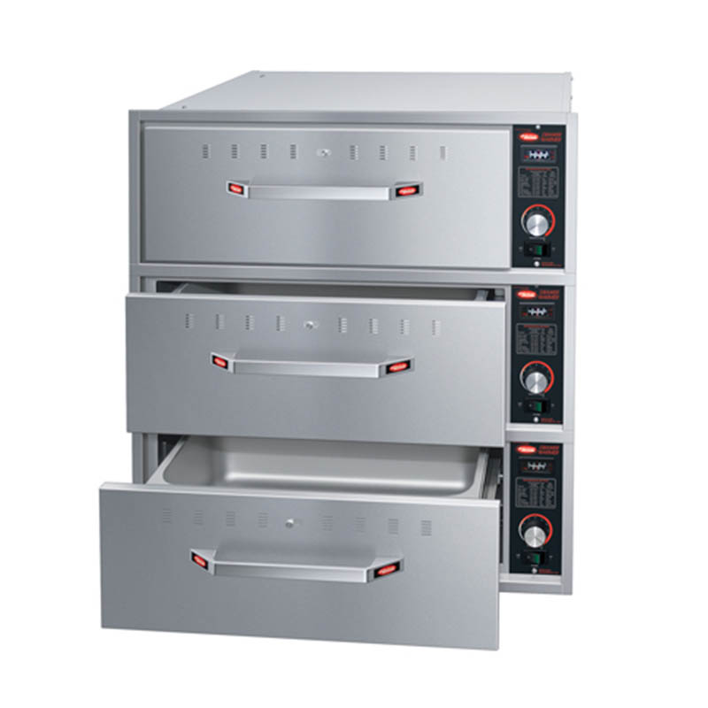 Hatco HDW-3BN 208 Built-in Narrow Warming 3-Drawer Unit For Standard Pans, 208 V