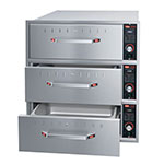 Hatco HDW-3BN 240 Built-in Narrow Warming 3-Drawer Unit For Standard Pans, 240 V